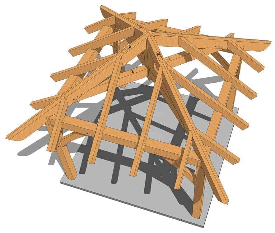 12x12 timber frame gazebo plan timber frame hq. Black Bedroom Furniture Sets. Home Design Ideas