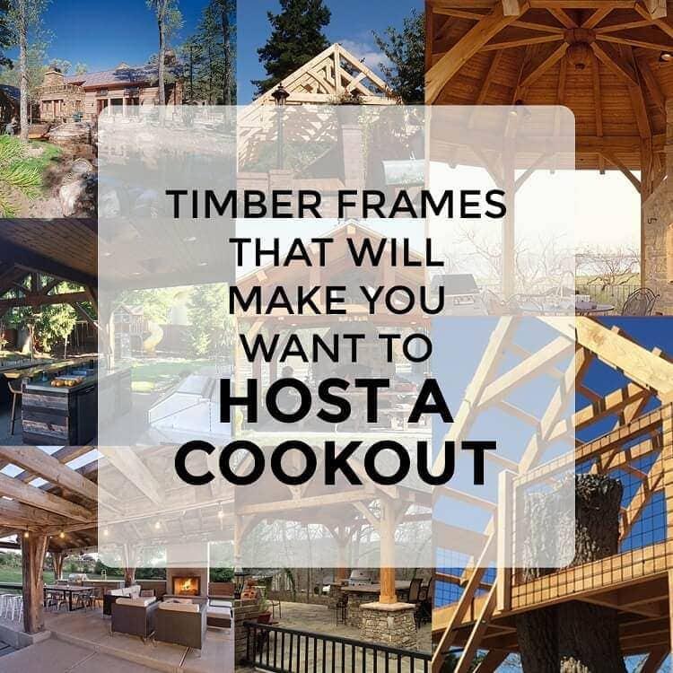 Timber frames host a cookout