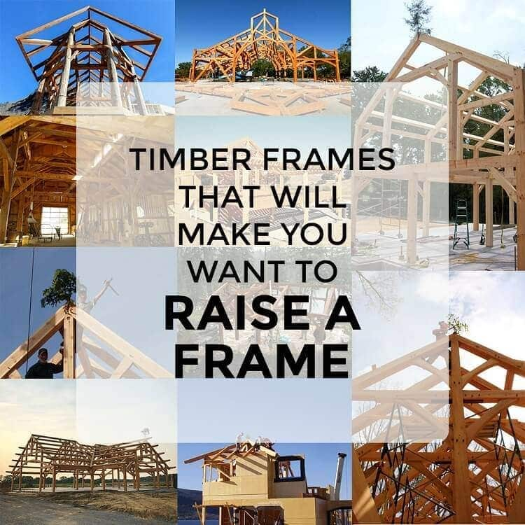 timber frames raise a frame