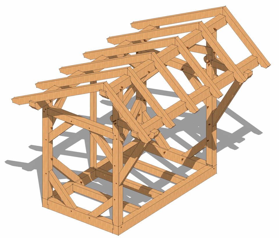 Timber Frame Shed Plans - Timber Frame HQ