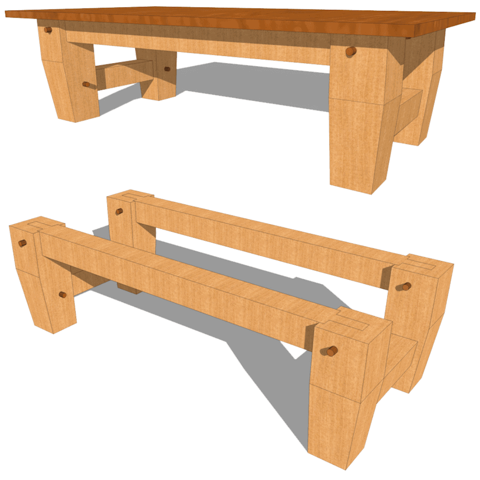 Heavy Timber Coffee Table Plan