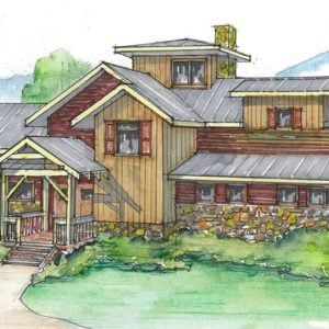 The West Fork Timber Frame Home Color Rendering