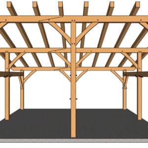 24x24 Shed Roof Plan Front