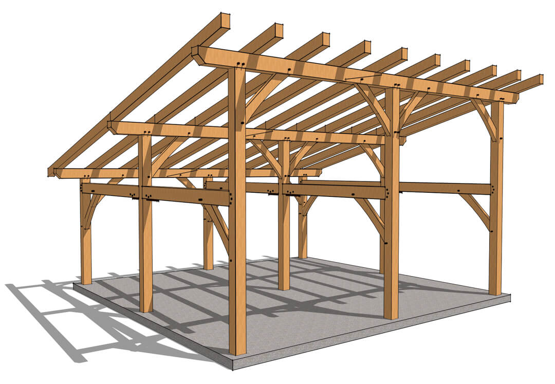 24x24 Shed Roof Plan