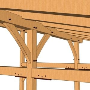 24x24 Shed Roof Plan Scarf Joint