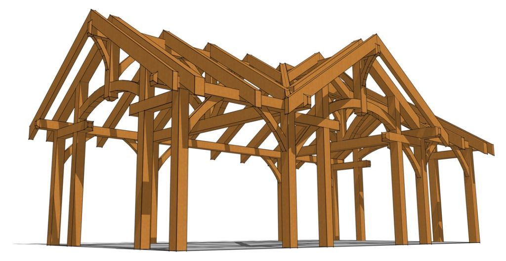 16x32 Timbered Pavilion