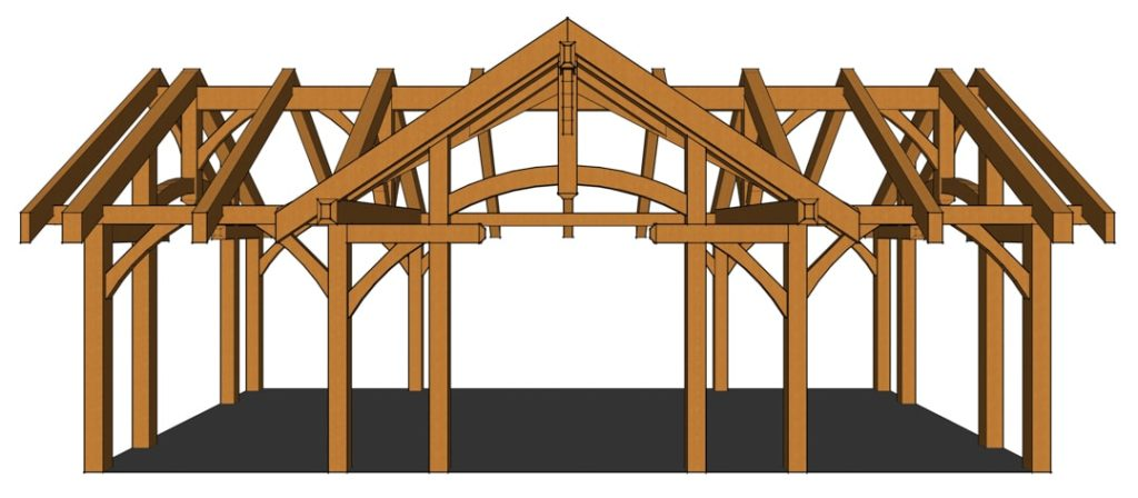 16x32 Arched Chord Pavilion Front View