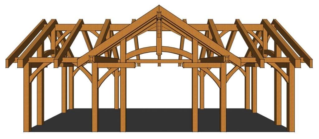 16x32 Timber Frame Pavilion Timber Frame Hq
