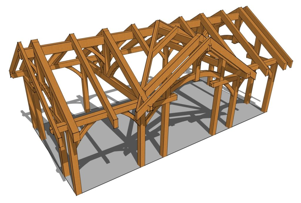 16x32 Arched Chord Pavilion Aerial View