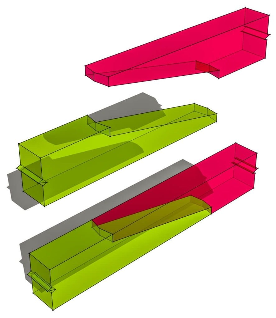Stop-Splayed Scarf Joint with Sallied Abutments Transparent