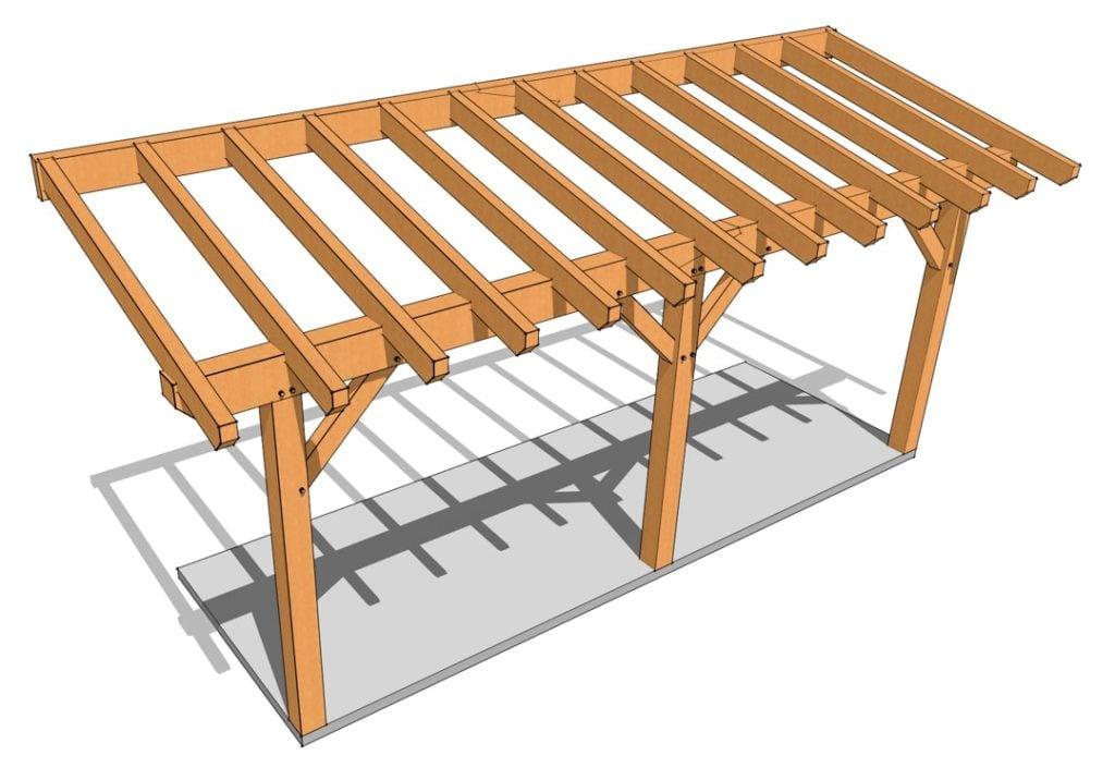 Timber Frame Porch Plan