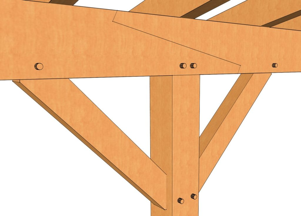 Timber Frame Porch Plan Scarf Joint