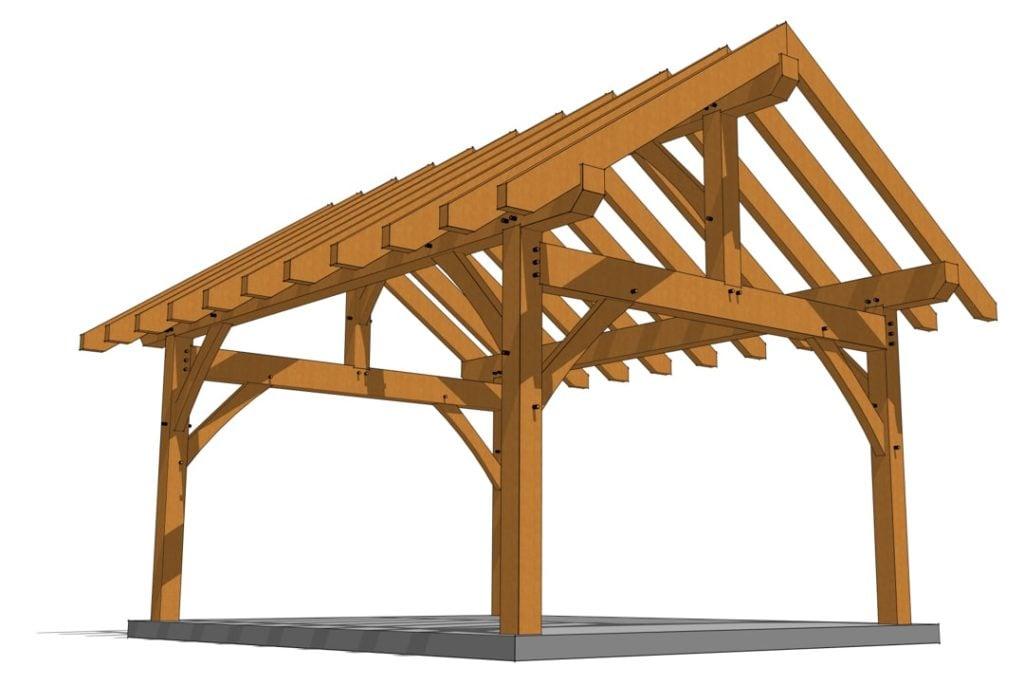 14x18 Heavy Timber Pavilion