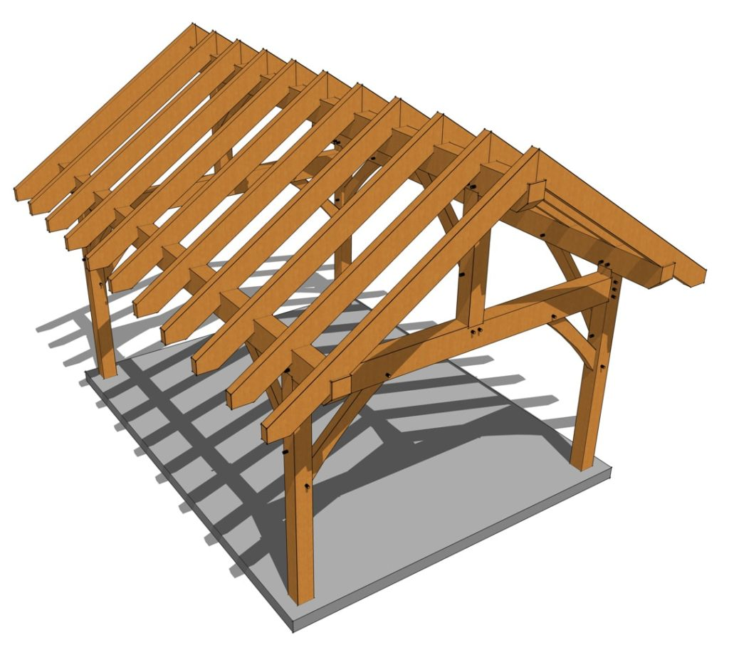 14x18 Heavy Timber Pavilion Treetop View