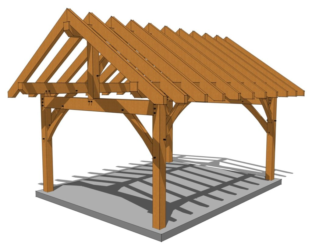 14x18 Heavy Timber Pavilion Eye Level View