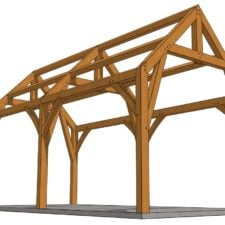 12x24 Gothic Arch Timber Frame