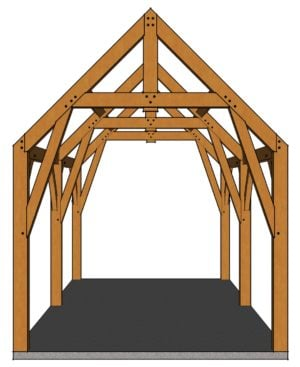 12x24 Gothic Arch Timber Frame Front