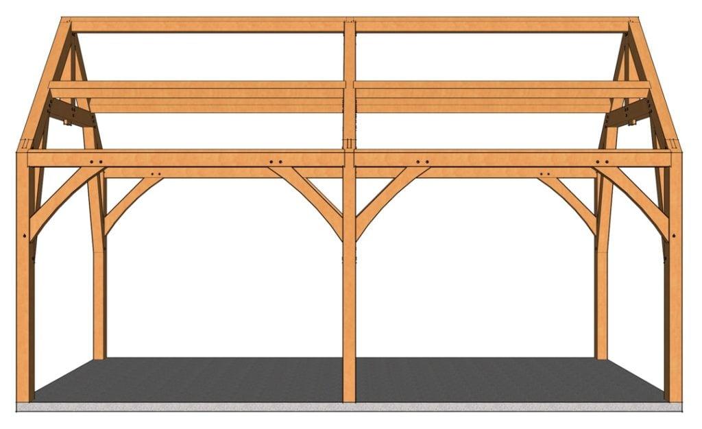 12x24 Gothic Arch Pavilion Side