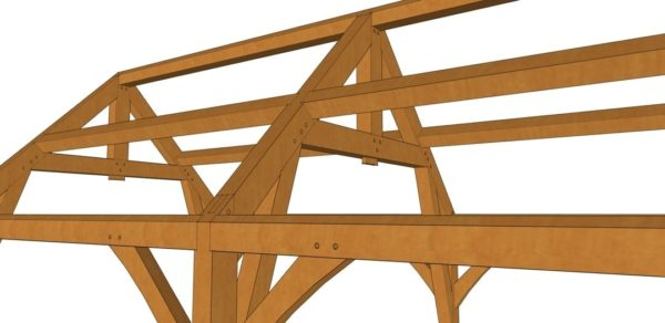 12x24 Gothic Arch Timber Frame Detail