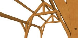 12x24 Gothic Arch Timber Frame Closeup