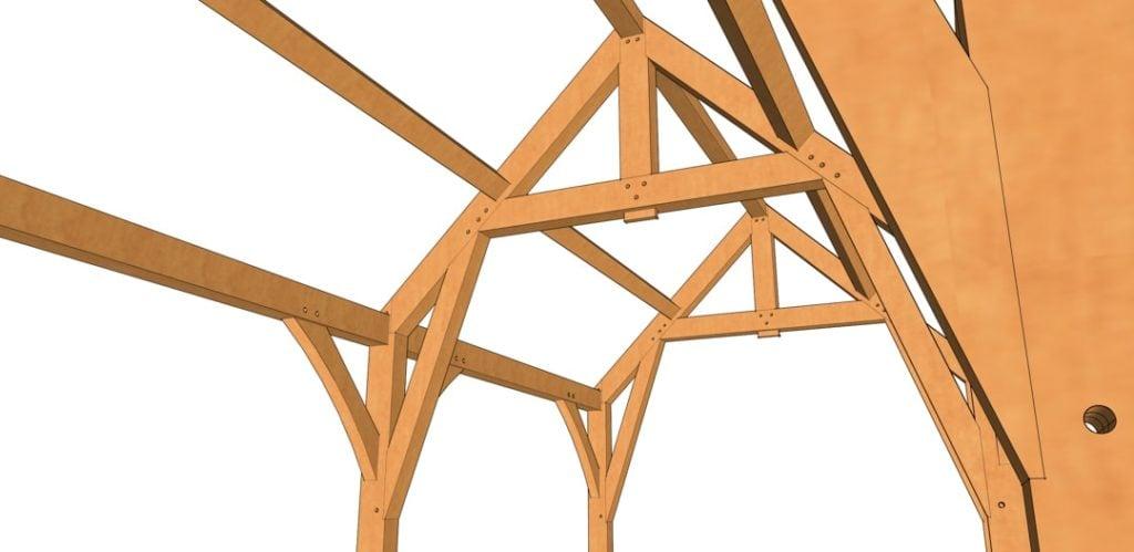 12x24 Gothic Arch Pavilion Detail