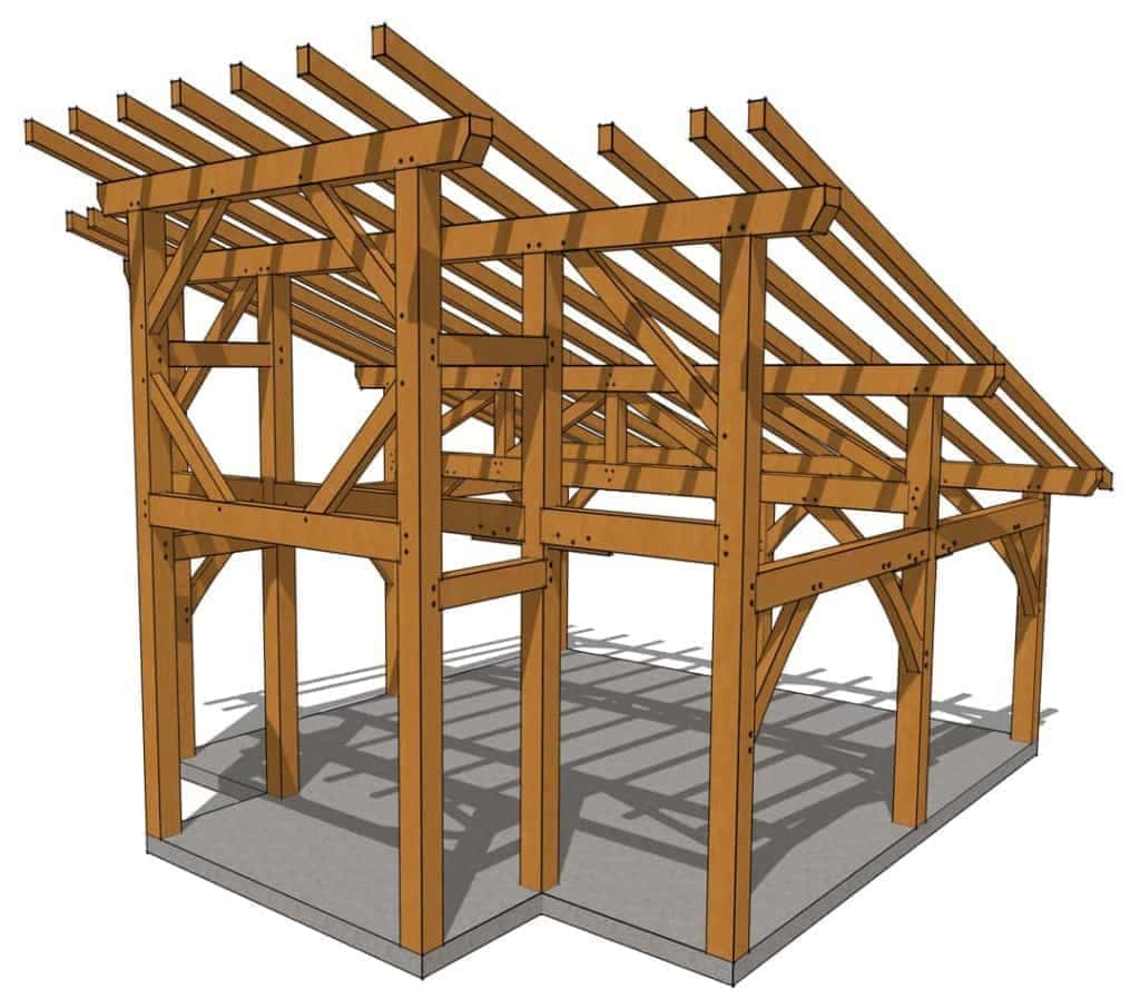 20x20 Foot Timber Frame Shed