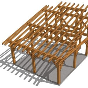 20x20 Shed Roof Plan Roof View