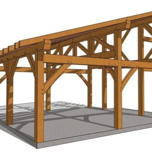 20x20 Shed Roof Plan Side Angle