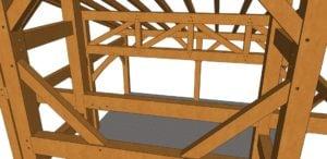 20x20 Shed Roof Plan Chord Closeup