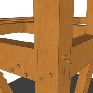 12x16 Tiny Timber Frame House Joinery Closep