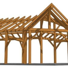 14x28 Winged Shed Pavilion - Dormer Face