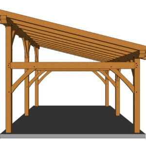 16x24 Shed Roof Side Rendering