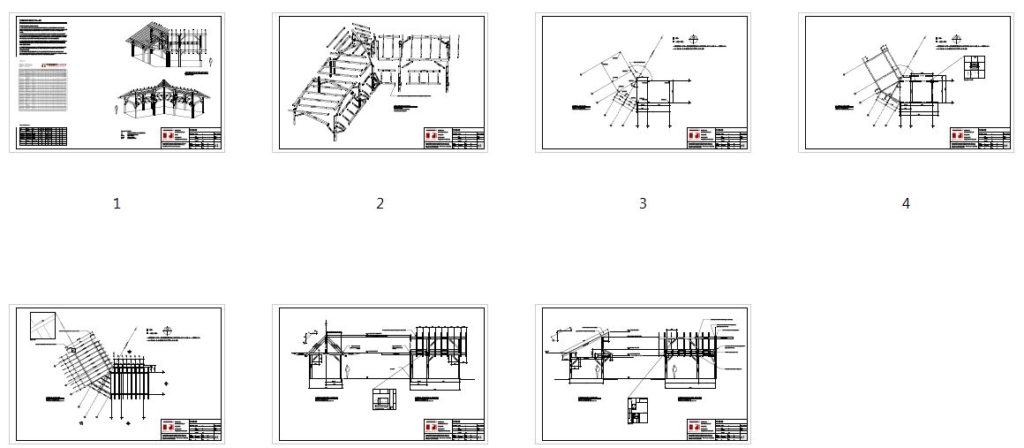 14x28 Winged Shed Pavilion Plan Overview