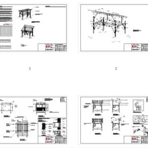 12x16 Tiny Timber Frame House Plan Overview