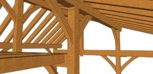 26x30 Timber Frame Workshop Detail