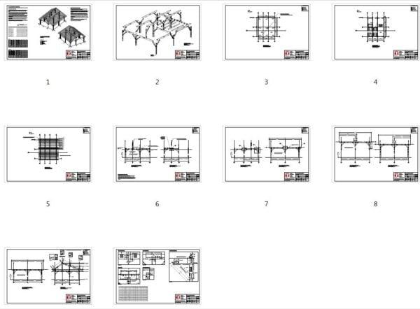 26x30 Timber Frame Workshop Plan Overview
