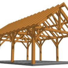 24x36 King Post Truss Pavilion