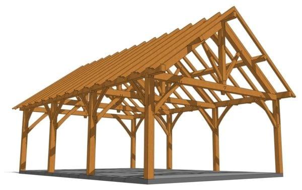 24x36 King Post Truss Pavilion