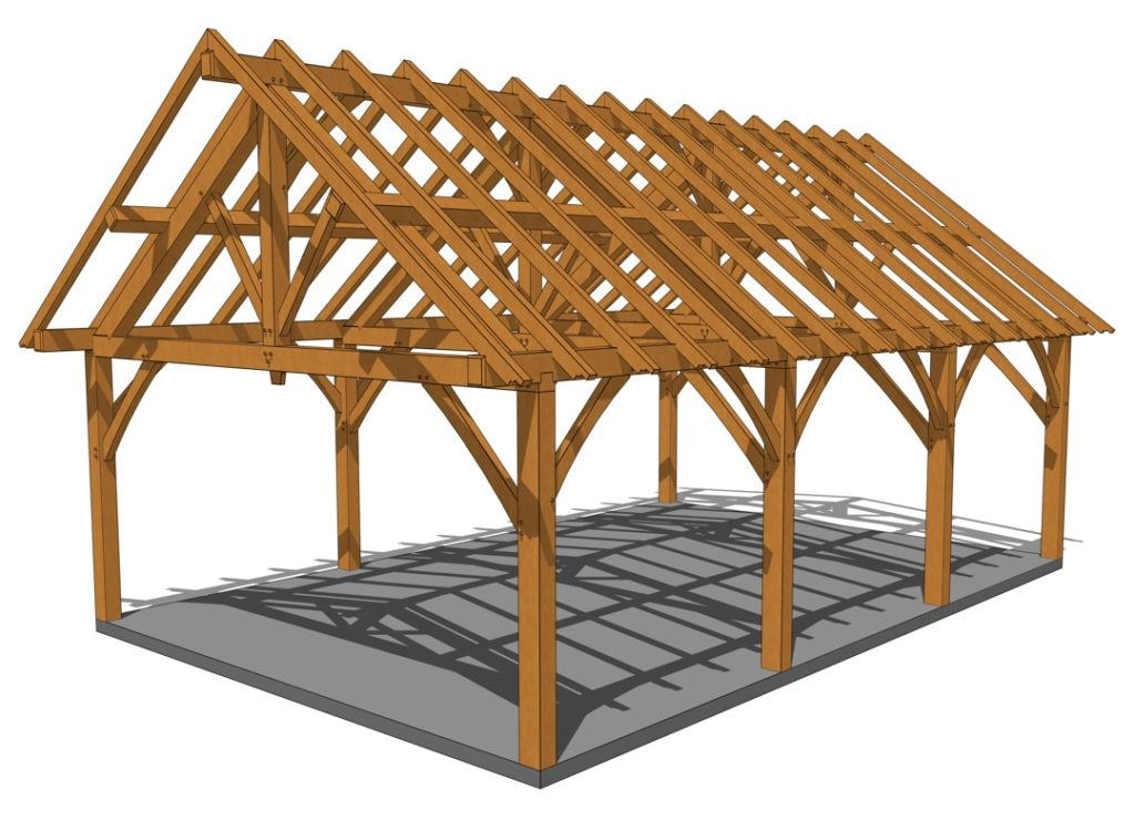 24x36 King Post Truss Pavilion Eye Level