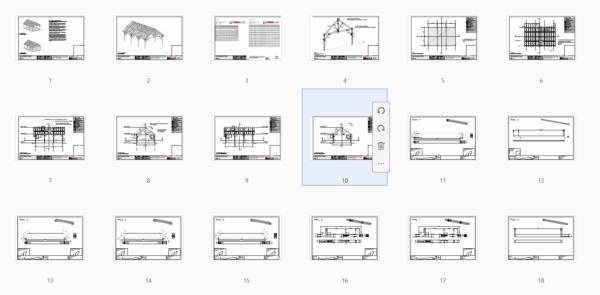 24x36 King Post Truss Pavilion Plan Overview