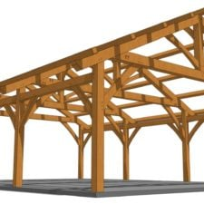 26x36 Timber Frame Carport