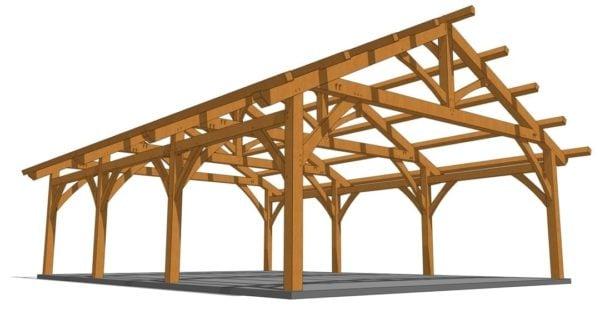26x36 Timber Frame Carport
