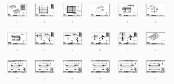 26x36 Timber Frame Carport Plan Overview 1