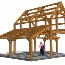 24x30 Timber Frame Cabin