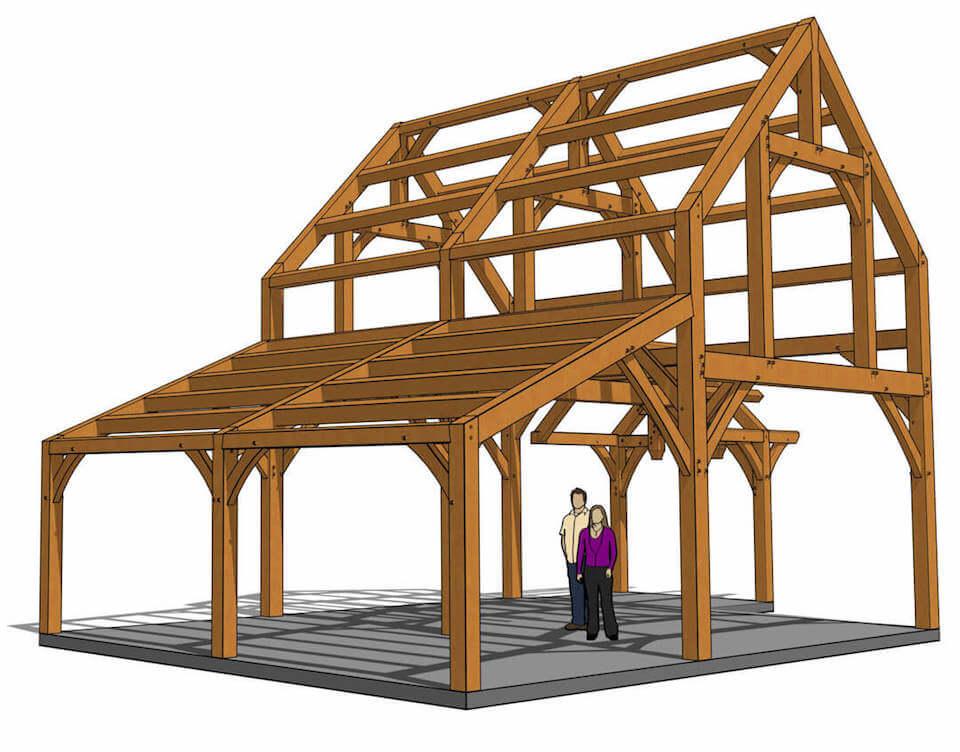 24x30 Timber Frame Cabin