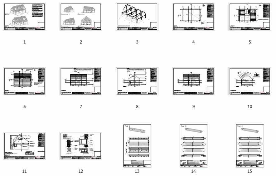 24x36 Timber Frame Barn House Plan