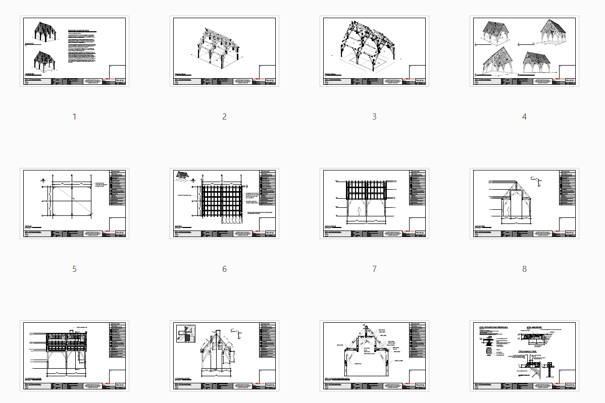 18x24 Hammer Beam Truss Plan Plan Overview