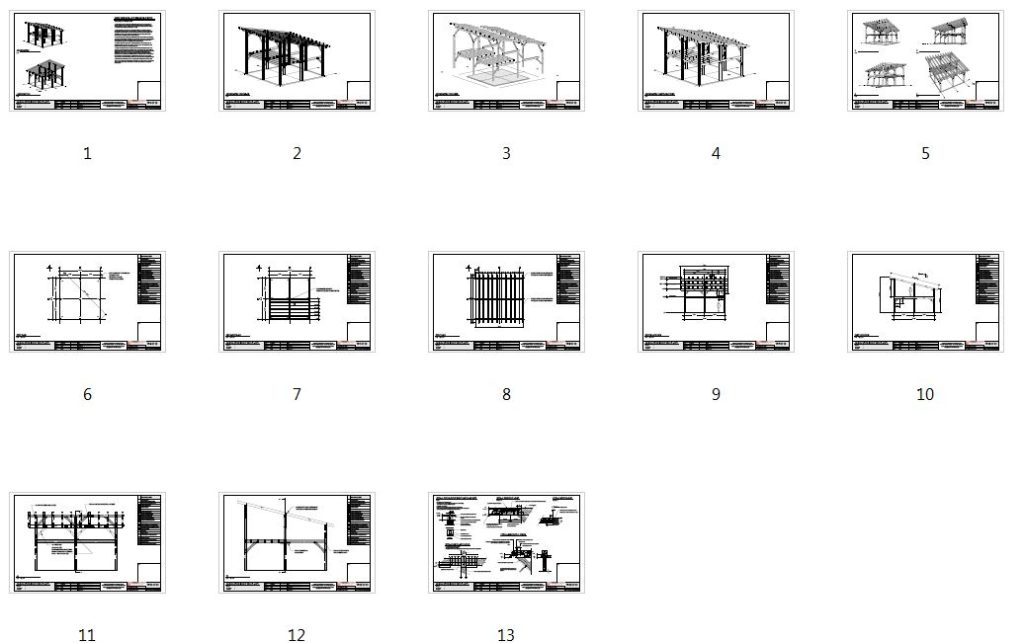24x24 Shed Roof Plan with Loft Plan Overview