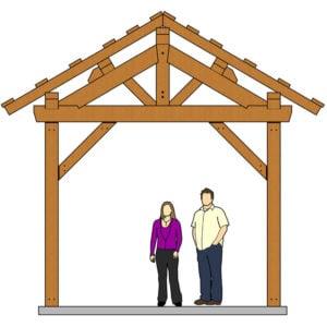 12x24 Post and Beam Pavilion Elevation