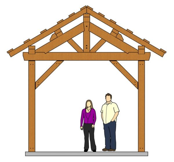 12x24 Post and Beam Pavilion Elevation